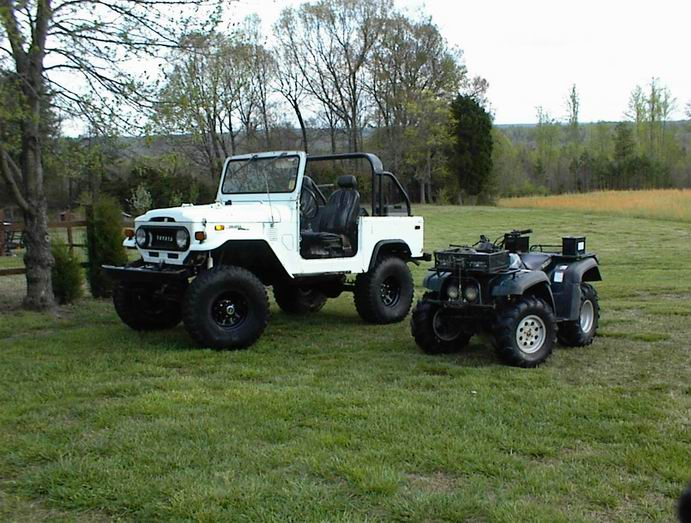 My babies QuadRunner 500, and my FJ40...