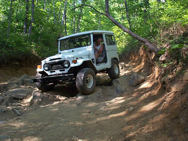 My FJ40, Mighty-Mighty, Pictured with Weber carb, coil over shocks on the rear and that's about it in this pic
